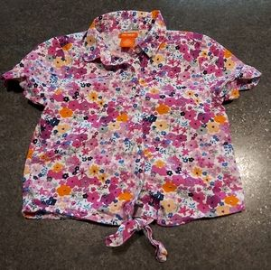 Bright & Colourful Kids Button Up Top